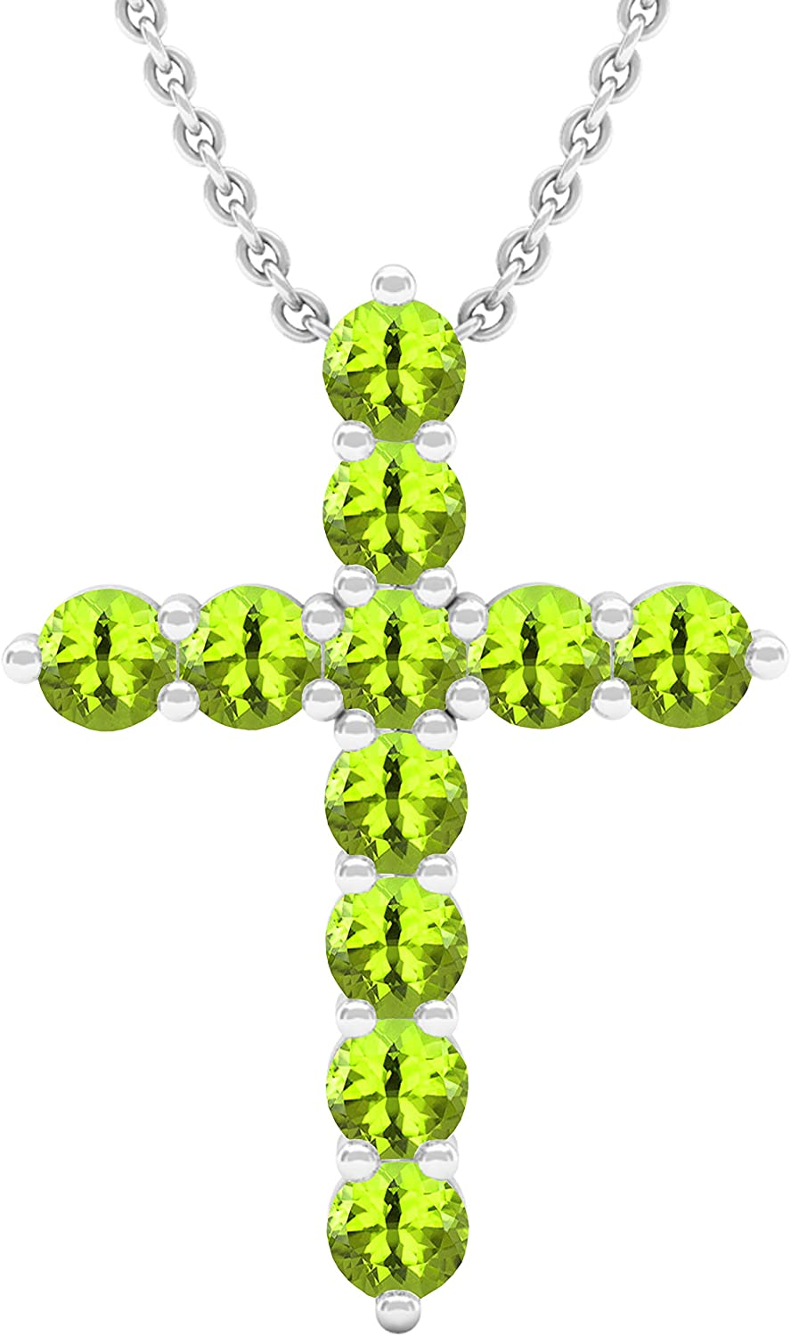 Choice Dazzlingrock Collection Round Gemstone Special price for a limited time Cross Pendant Sil Ladies