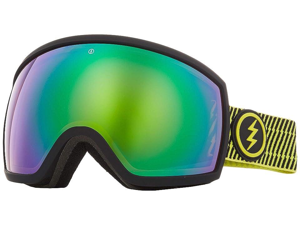 Electric Eyewear EGG (Volt Stripe Brose/Green Chrome) Athletic Performance Sport Sunglasses