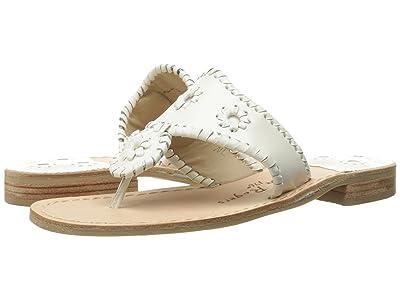 Jack Rogers Jacks Flat Sandal (White) Women