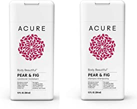 ACURE Body Beautiful Shampoo-Conditioner SET-BUNDLE, Pear & Fig, 12 Fl. Oz. EACH (Packaging May Vary)