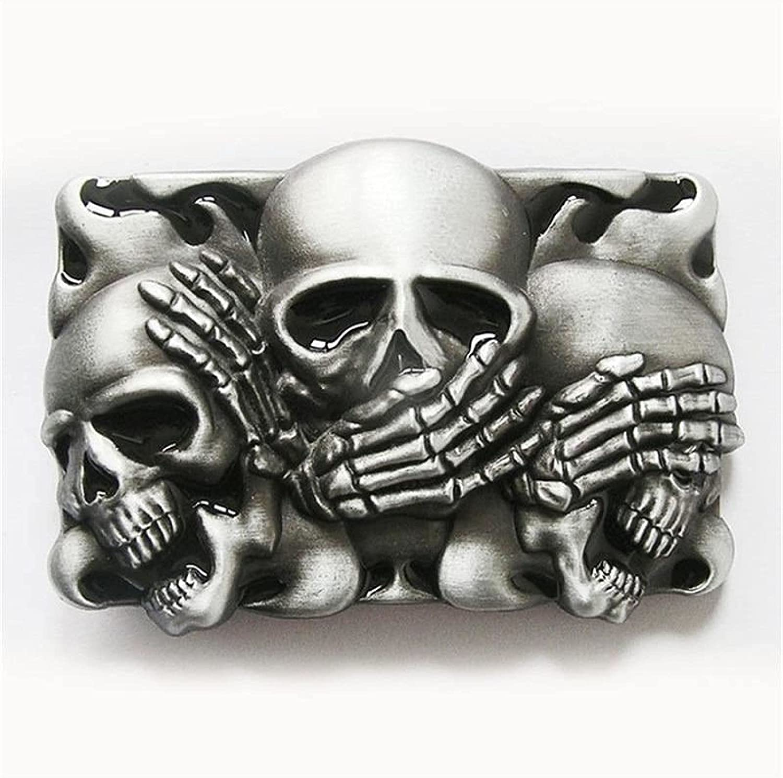 Classic Vintage Black Flame Shy Fresno Mall Virginia Beach Mall BUCKLE-CS041B Belt Buckle Skulls