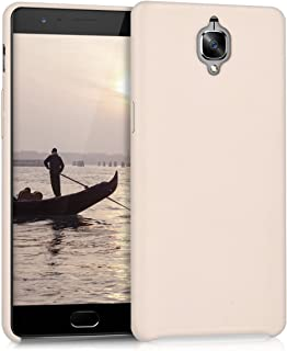 kwmobile Case for OnePlus 3 / 3T - Soft Durable Shockproof Premium PU Leather Smartphone Back Cover - Beige
