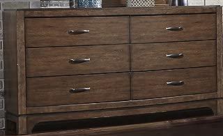 Liberty Furniture INDUSTRIES 705-BR31 Avalon III 6-Drawer Dresser, W64 x D19 x H36, Pebble Brown