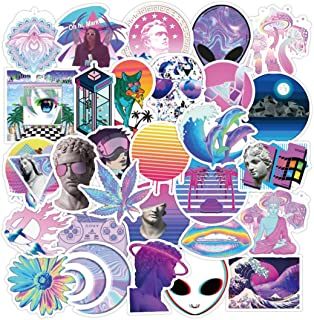 WOM Stickers Vinyl Stickers for Adults Teens Laptop Boys Water Bottles Office Computer Luggage Suitcase Book (50 pcs)