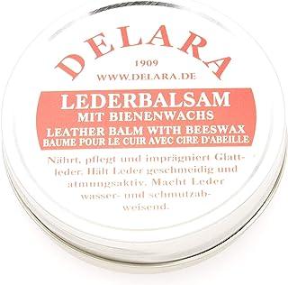 DELARA Lederbalsam mit hochwertigem Bienenwachs, Lederpflege, die das Leder weich, geschmeidig und atmungsaktiv Macht, 75 ml Dose, Made in Germany