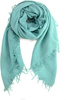 Chan LUU NEW Mineral Blue Cashmere & Silk Soft Scarf Shawl Wrap