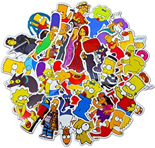 Laptop Stickers Simpsons Family Funny - Decals Vinyl Water Bottle Car Waterproof Bumper Computer Phone Case Book Skateboard Luggage Motorcycle Bike Helmet Decor Graffiti Patches [No-Duplicate] 43 Pack