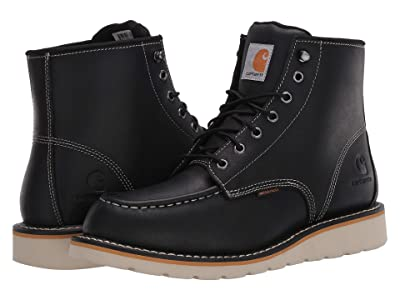 Carhartt 6-Inch Non-Safety Toe Wedge Boot (Black Oil Tanned) Men