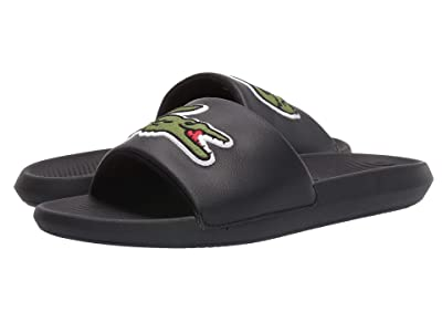 Lacoste Croco Slide 319 4 US (Black/Green) Men