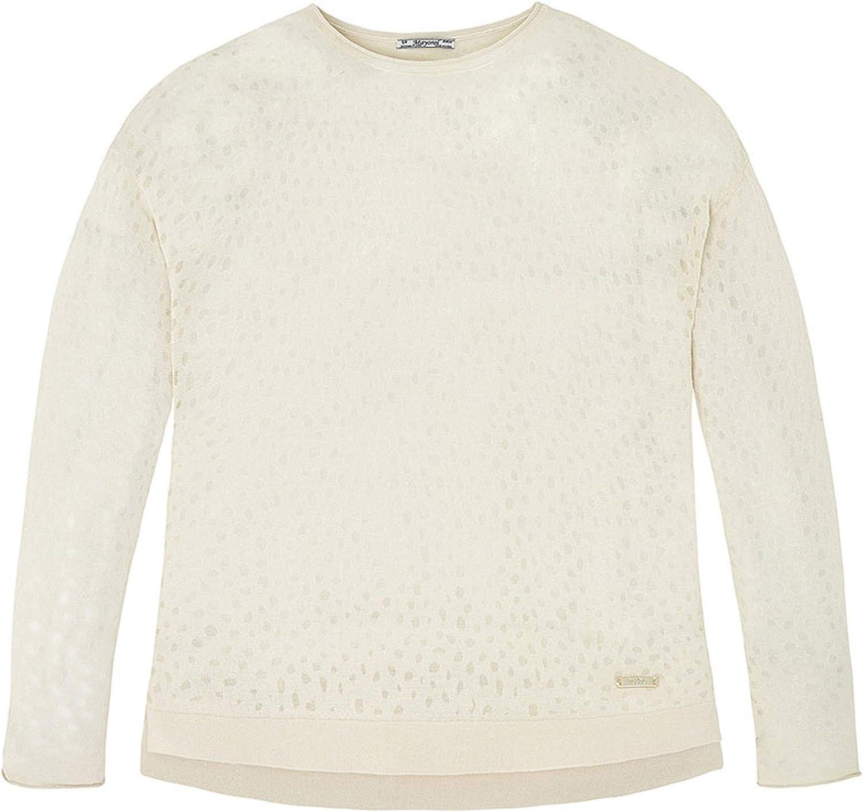 Tween Girls 8-18 Burnout Dot Jersey Knit Pullover Sweater
