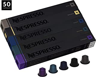 Nespresso Kazaar and Dharkan Intenso Assortment Combo, NOT Compatible with Vertuoline