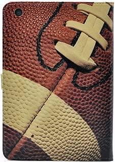 iPad Mini 5 Case 2019,Rugby Football Sports American Pattern Leather Flip Stand Case Cover for Apple iPad Mini 5th Gen,iPad Mini 4 7.9-inch