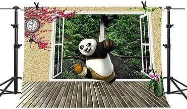 MME Kung Fu Panda Photography Backdrop 10x7ft Upgrade Material Seamless Vinyl Cartoon Image Photo Studio Props NANME866