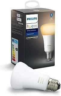 Philips Hue Bombilla Inteligente LED E27, con Bluetooth, Luz Blanca de Cálida a Fría, Compatible con Alexa y Google Home