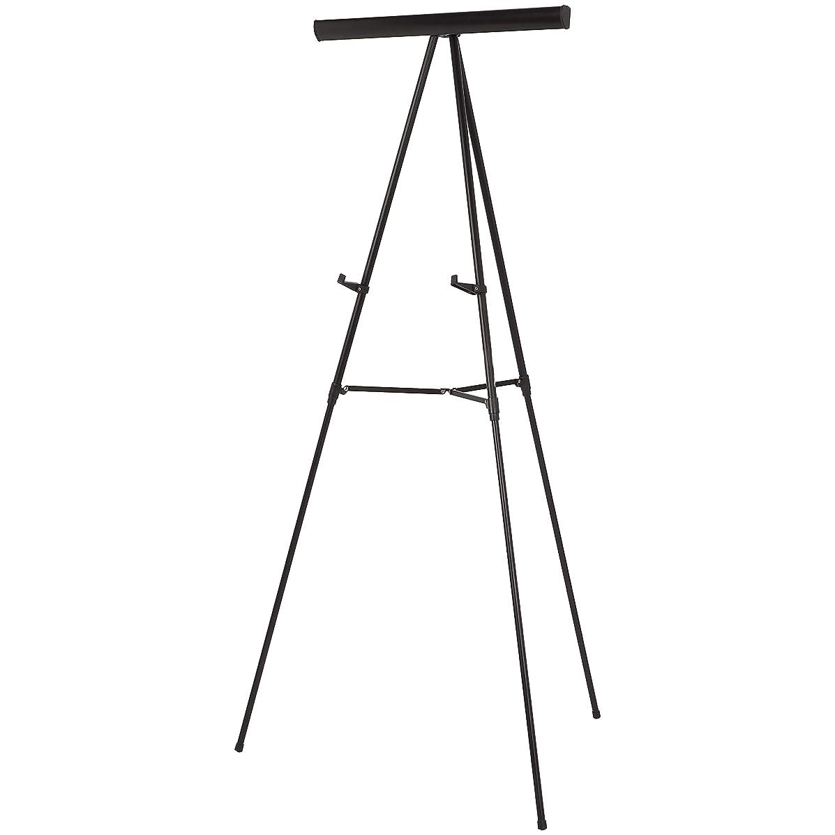 AmazonBasics Presentation Display Easel Stand, Adjustable Height Telescope Tripod, Black
