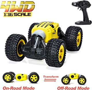 RC Car - 2.4 GHZ Remote Control Car 4WD Dual Motors Off-Road Vehicles Rock Crawler Hobby Cars, 2-Side Driving High Speed Monster Truck Rechargeable Electric Racing Car