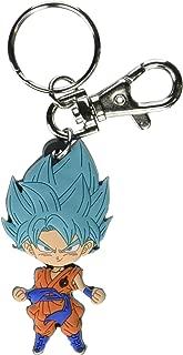 Dragon Ball Super Saiyan Blue Goku Powering Up Keychain