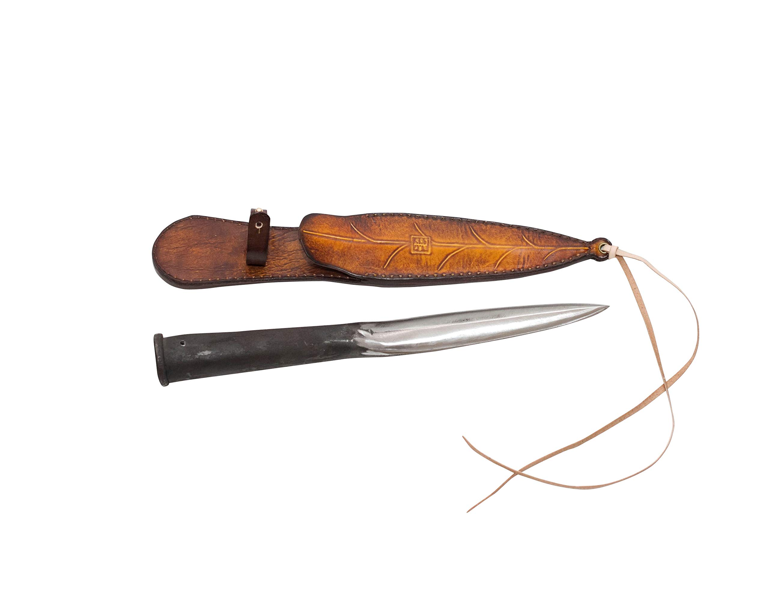 DH corp - Spear Head, Hand Forged Hunting Knife, Premium Fighting Knife, Durable Trench Knife and Short Sword with…