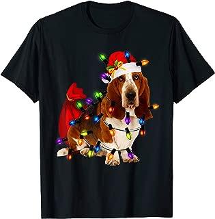 Basset Hound Christmas Santa T Shirt Funny Dog Lover Gift T-Shirt