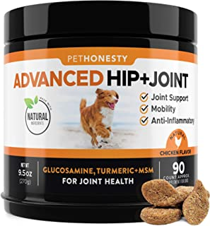 Glucosamine for Dogs - Dog Joint Supplement Support for Dogs with Glucosamine Chondroitin, MSM, Turmeric - Advanced Hip an...
