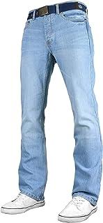 Smith & Jones Mens New Enrico Bootcut Leg Jeans Stonewash
