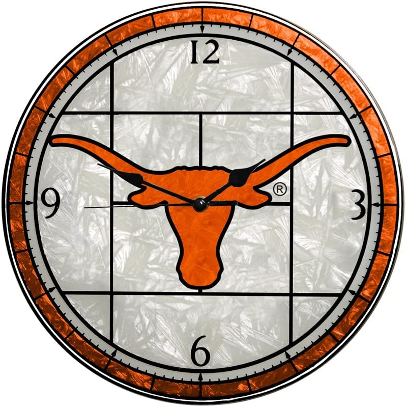 Animer and price Manufacturer OFFicial shop revision Memory Company Texas Longhorns Art Clock 12in Glass