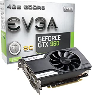 EVGA GeForce GTX 960 Super Clocked ACX 2.0 4GB GDDR5 128 Bit Gaming Graphic Card (04G-P4-3962-KR)