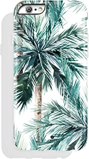 AknaCase for Apple iPhone 6 and iPhone 6s, Tropical Leaf Pattern High Impact Hard Silicon Cover for Girls (Graphic 101971-U.S)