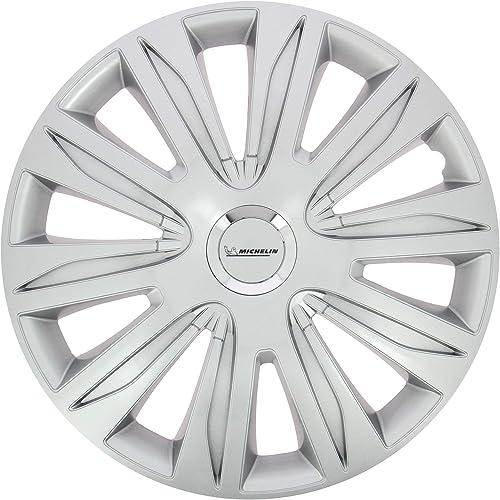 "Michelin 009109 Boite 4 Enjoliveurs 14"" NVS 42 Chrome"