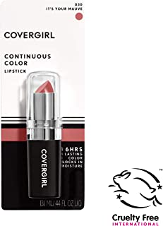 COVERGIRL Continuous Color Lipstick It's Your Mauve 030, 0.13 oz (packaging may vary)