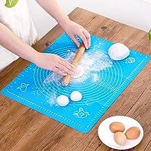 Lukzer 1 Pc Reusable Non-Stick Kneading Dough Mat Bakery Measuring Mat Easy to Clean Silicone Mat 50 x 40 cm (Random Colour) Nonstick Silicone Mat