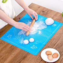 Lukzer 1 Pc Reusable Non-Stick Kneading Dough Mat Bakery Measuring Mat Easy to Clean Silicone Mat 50 x 40 cm (Random Colour) Nonstick Silicone Mat
