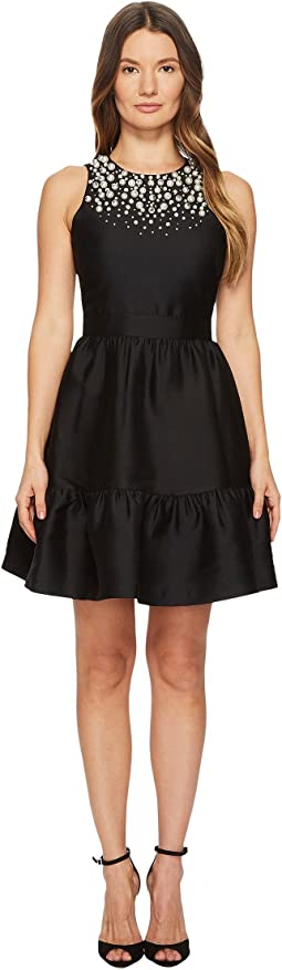 Kate Spade New York - Pearl Embellished Mikado Dress