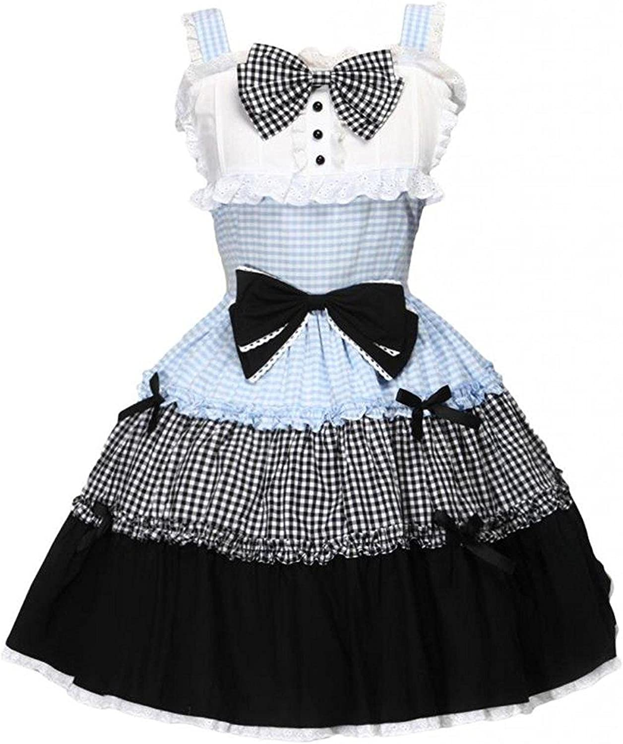 Cemavin Womens Multi color Cotton Bow Cute Icecream Lolita Jumper Skirt