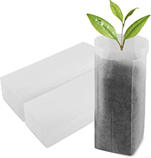 ENPOINT Nursing Growing Pouch, 100 PCS 7.87 x 13.77 Inches Breathable Non-Woven Plants Grow Bags, Aeration Fabric Seedling...