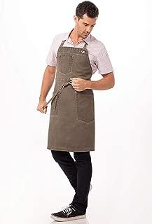 Chef Works Unisex Dorset Bib Apron, Earth Brown, One Size