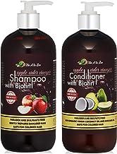 Apple Cider Vinegar & Biotin Shampoo & Conditioner (2 x 16oz) | Infused with Aloe Vera Juice, Argon Oil & Saw Palmetto Ext...