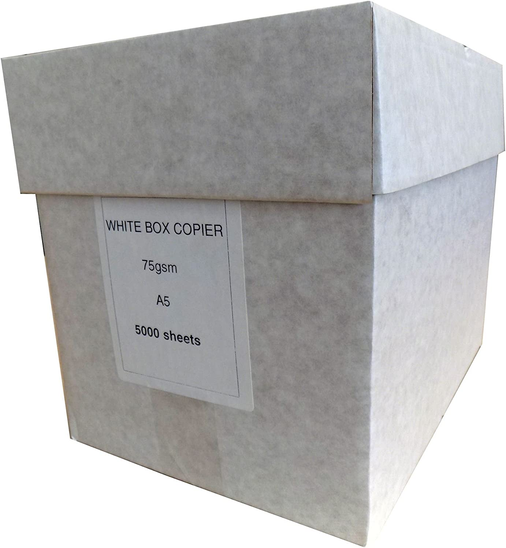 A5 Kopierpapier, weiß, 75 g m², 500 Blatt, 10 Pakete. B06XYQ8TM4   Outlet Store