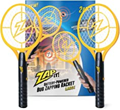 ZAP IT! Bug Zapper Twin Pack - Battery Powered (2xAA) Mosquito, Fly Killer and Bug Zapper Racket - 3,500 Volt - Safe to Touch