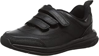 Clarks Boy's Hula Thrill Black Leather Formal Shoes