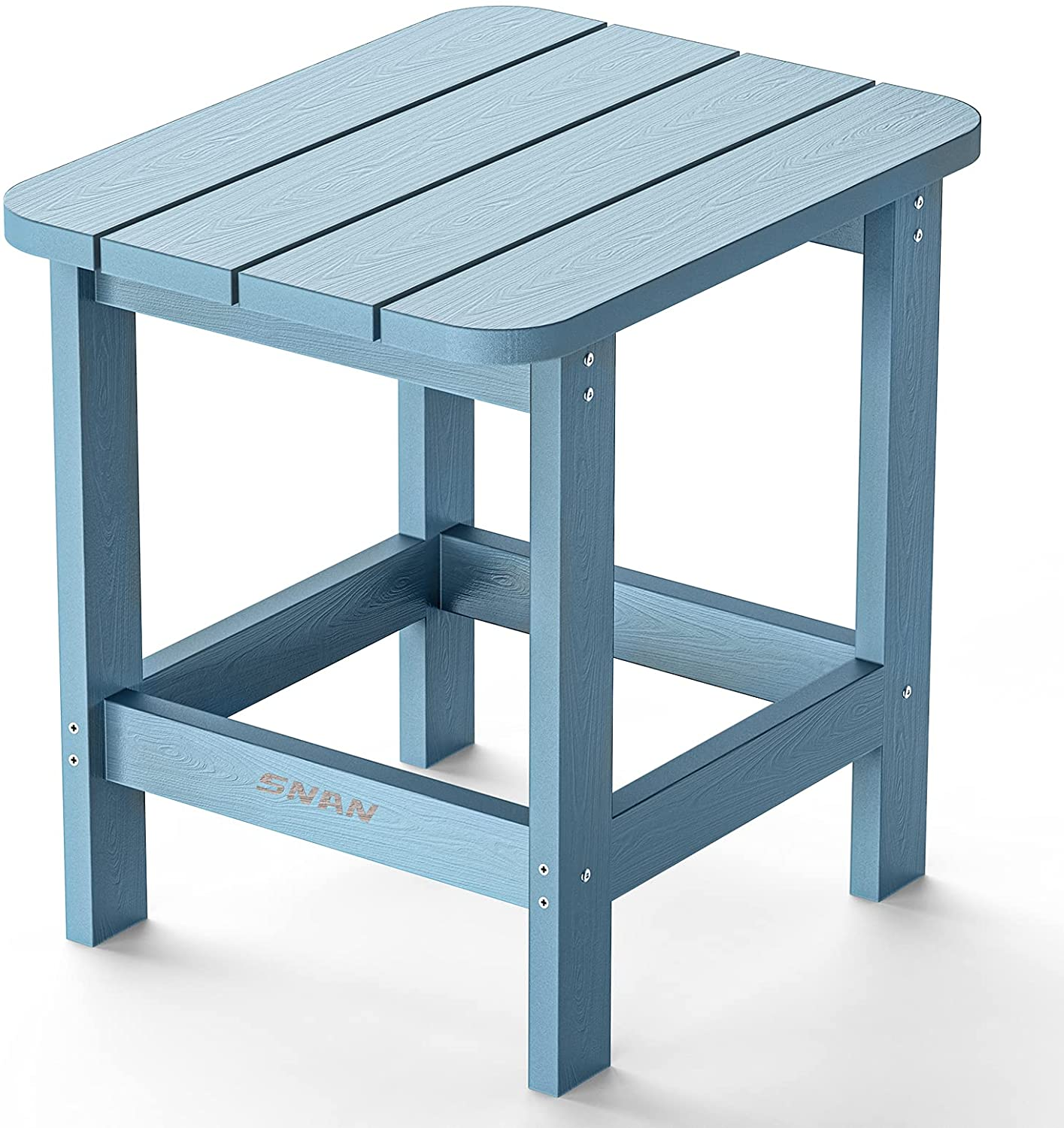 Outdoor Side Table, Adirondack Outdoor Side Table for Garden, Porch, Beach, Indoors and More, 18.9L 14.9W 18.1H Inches, Blue : Patio, Lawn & Garden