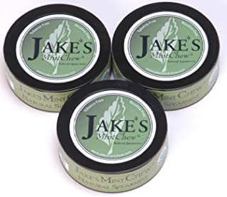 Jake's Mint Chew - Natural Spearmint - 3 Pack - Tobacco & Nicotine Free!