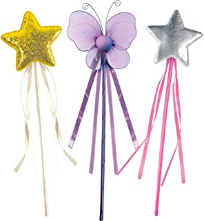 OLYPHAN Princess Wand Kit for Girls - Magical Toy Wands for Dress Up, Halloween Costume, Magic Shows, Cosplay, Birthday Pa...