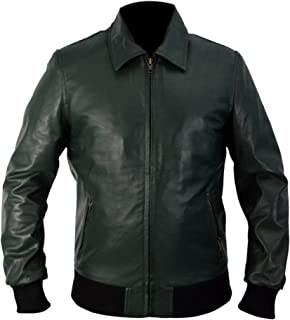 Leather Creative Arrow S3 Oliver Queen (Stephen Amell) Black Bomber Jacket