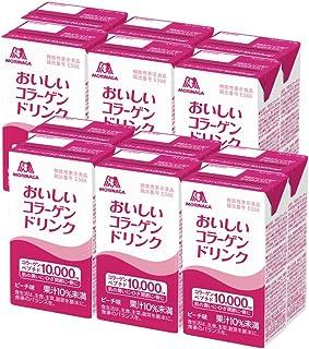 森永製菓 おいしい コラーゲン ドリンク 125ml×12本 [ 美容 コラーゲン セラミド ビタミンC ビタミンD 脂質ゼロ ] (ピーチ, 12)
