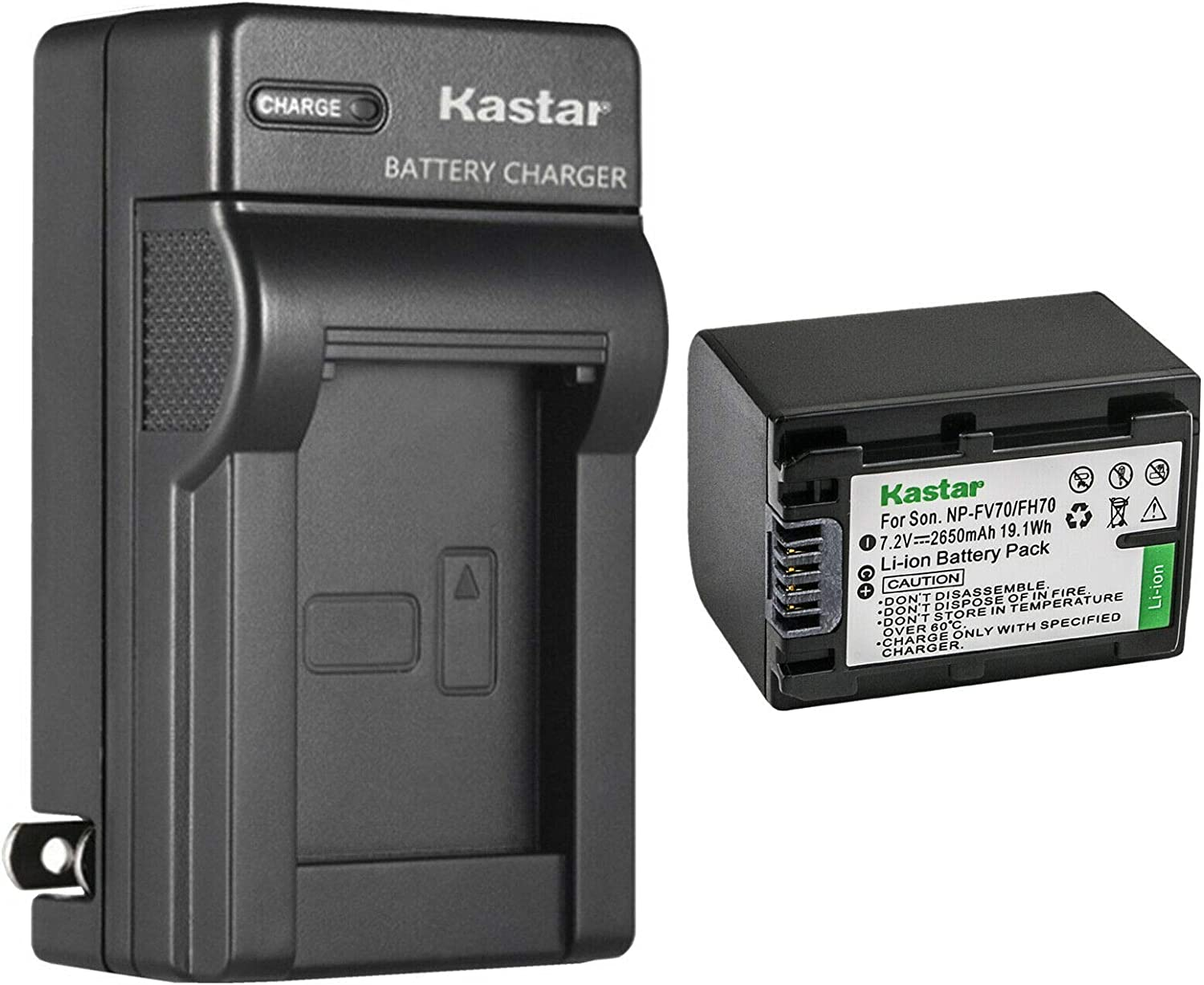 Kastar 1-Pack Battery and AC Cheap super special price Wall Sony for Charger D Oakland Mall Replacement