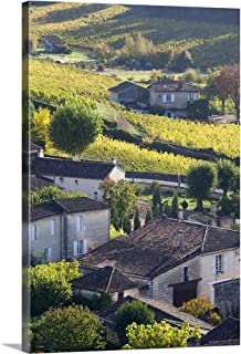 Gallery-Wrapped Canvas Entitled France, Aquitaine Region, St. Emilion, Wine Town by Walter Bibikow 16