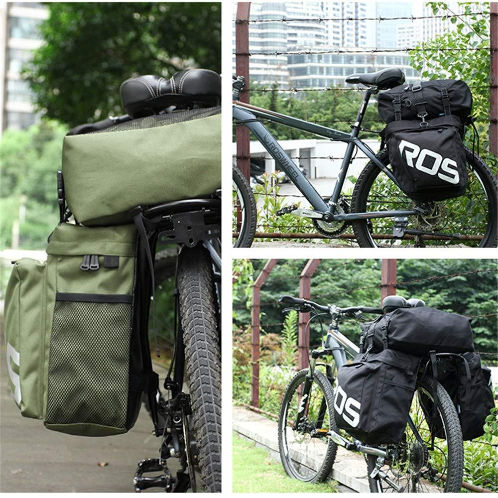 3 en 1 bolsa de bicicleta de montaña MTB de carretera multifunción bolsa de maletero de bicicleta 35L bolsa de maletero de asiento trasero for viajes en bicicleta ...