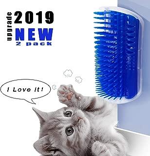 prowithlin Cat Self Groomer, 2 Pack Cat Self Groomer Brush, Cat Face Scratcher, Cat Self Groomer Wall Corner, Cat Wall Scratcher, Cat Corner Groomer with Catnip, Pet Toys for Cat