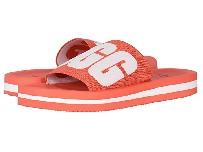 UGG  Zuma Graphic (Pop Coral) Womens Sandals